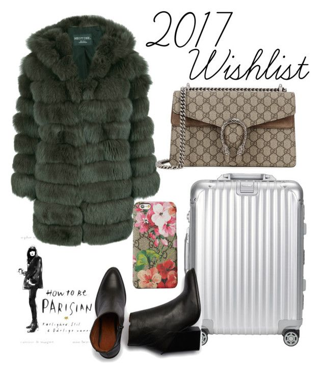 """2017 WISHLIST"" by fiejust on Polyvore featuring Rimowa and Gucci"