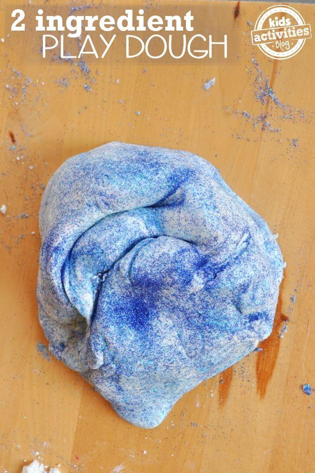 Play Dough Recipe: No Cook 2 ingredient Play Dough, described as a cross between cloud dough and play dough