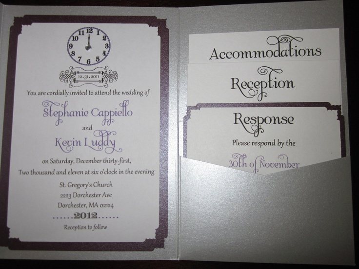 New Years Eve Wedding Invitation: 17 Best Images About My New Years Eve Wedding On Pinterest