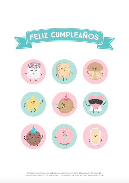 Descargable – Un pastel muy wonder para tu cumpleaños