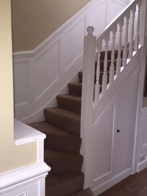 Awesome Beaded Stair Wall Panelling By Wall Panelling Experts