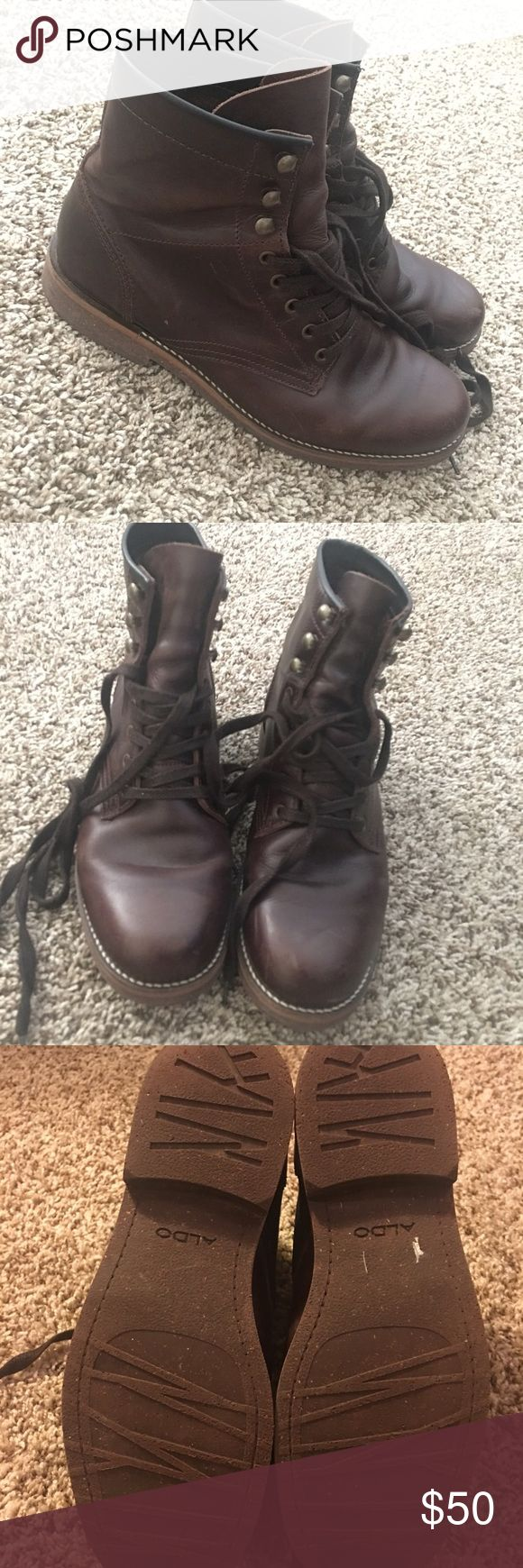 Leather Men's Aldo boots. No edits or filters to photos. Great condition. Aldo Shoes Boots