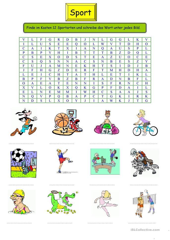 Wortschatz Kreuzworträtsel
