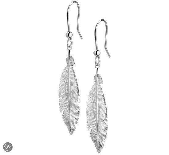 The Jewelry Collection - Oorhangers Veer - Zilver Gerhodineerd