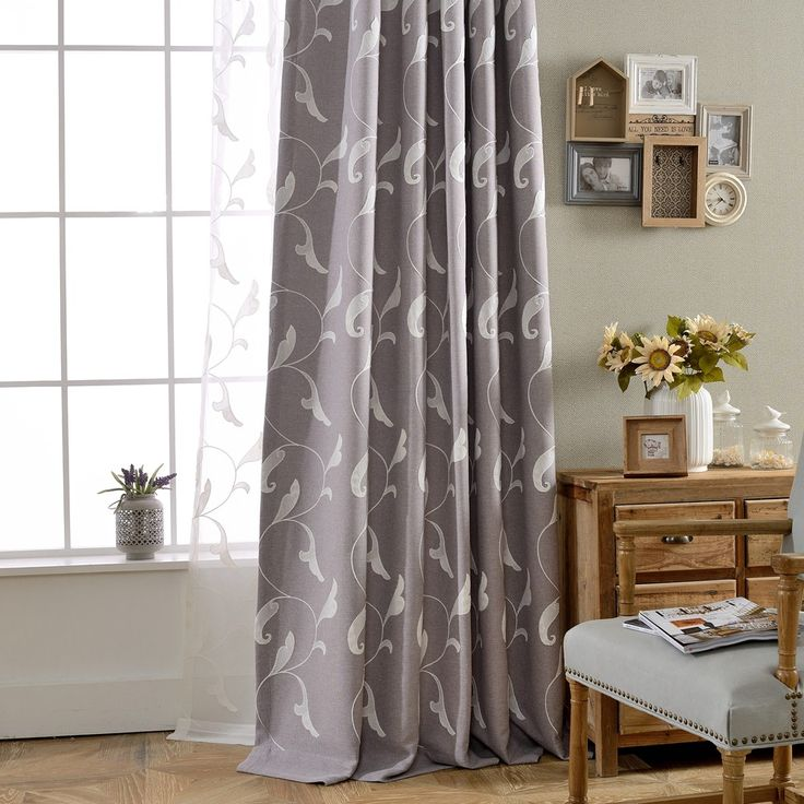 Embroidery Curtains And Tulle Modern  Embroidered Voile Sheer Curtains  Screens Quality Curtain Cortinas Para Sala De Luxo #Affiliate