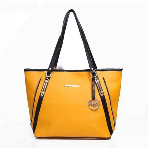 Michael Kors Jet Set Travel Zip Large Yellow Totes