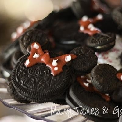parties minnie mouse: Mice, Mouse Oreo, Birthday Parties, Minniemouse, Minnie Mouse, Mickey Mouse Cookies, Parties Ideas, Minnie Oreo, Oreo Cookies