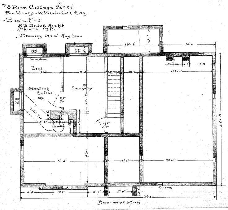 Eight Room Cottage No. 22 For Geo. W. Vanderbilt