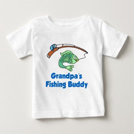 Grandpa's Fishing Buddy Baby T-Shirt - tap to personalize and get yours