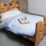Bluebell Washed Bed Linen Duvet Cover. 100% linen. Inspired by bring bluebells in Wicklow mountains.