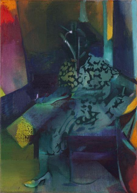Cathrine Raben Davidsen: Gerda, 2013. Oliemaleri, 50 x 35 cm. Pressefoto # Love the colors