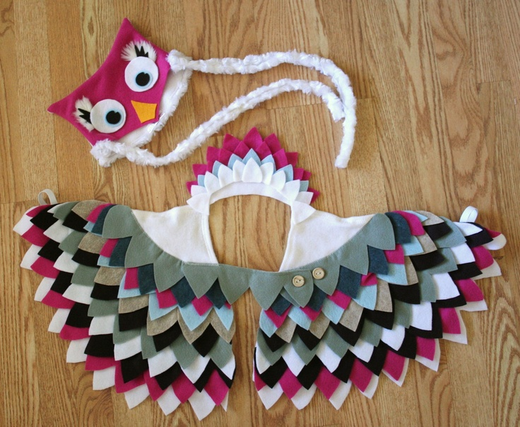 Owl Costume in Pink- Imagination Play- Dress Up- Halloween. $74.00, via Etsy.