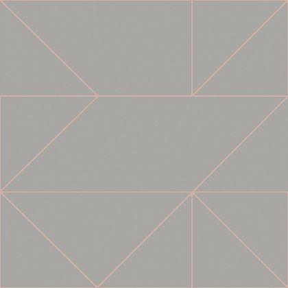 Kelly Hoppen Geo Grey & Rose Gold Wallpaper