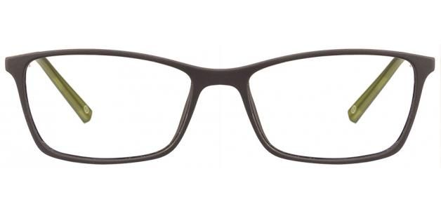 John Jacobs Slim JJ 4347 Matte Black Green V1O2EO Eyeglasses