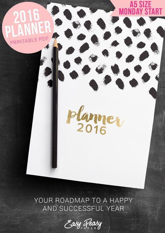 Hey, I found this really awesome Etsy listing at https://www.etsy.com/uk/listing/257770566/2016-planner-printable-women-gift-a5