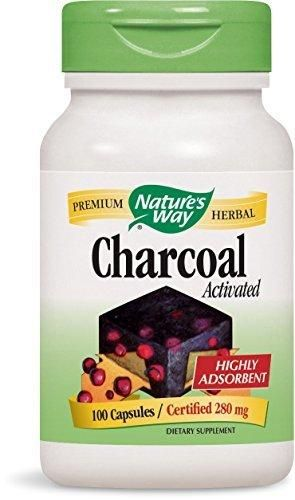 Nature's Way Charcoal Activated 100 Capsules 280 mg