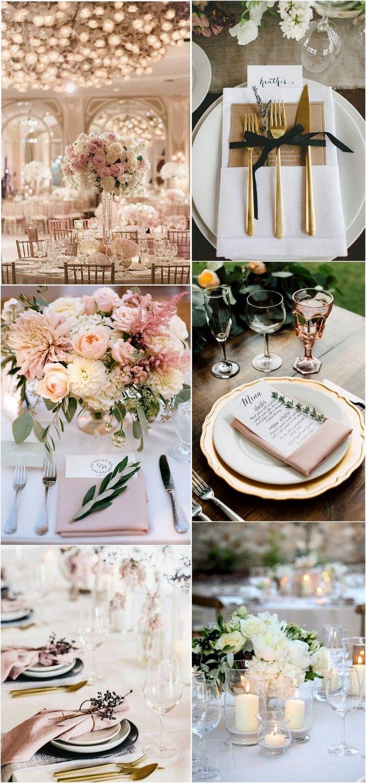 elegant wedding table setting ideas #elegantwedding #weddingdecor