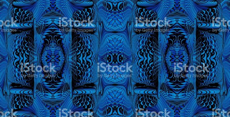 Kaleidoscopic blue pattern for the design of textiles, in the printing industry, in a variety of design projects. Стоковые фото Стоковая фотография