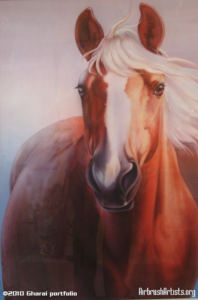 Horse airbrushed art by Gharai   I is just so real looking