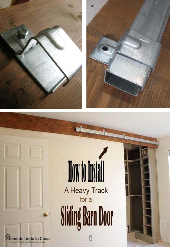 Remodelando la casa how to install a sliding barn door part 1 the track remodelando la for Diy interior barn door hardware