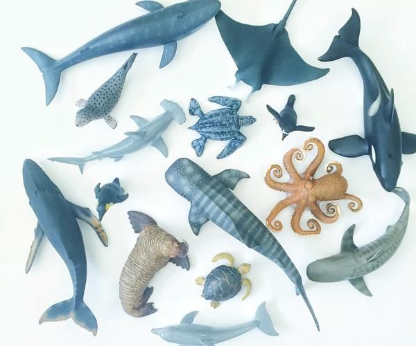 Oh Ivy Sea Life Animal Figurines  www.oh-ivy.com