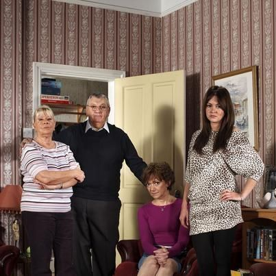 Mo Harris, Charlie Slater, Jean Slater and Stacey Slater: