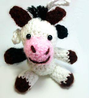 "kostenlose Häkelanleitung Kuh - ""Mucca"" - die Kuh, crochet pattern free"