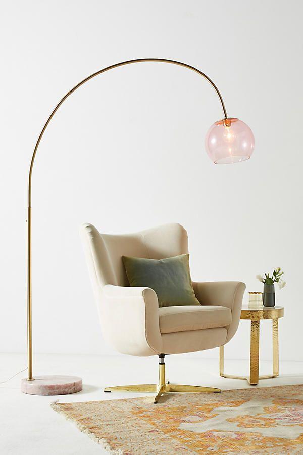 46 Cool Light Fixtures To Help Combat The End Of Daylight Saving Glass Floor Lamp Floor Lamps Living Room Cool Light Fixtures