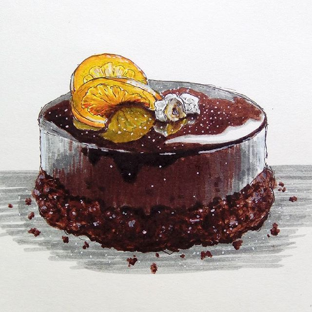 #foodillustration #sketchoftheday #illustration #instaartist  #foodsketch  #artisourway #sketchbook #caramelized #orange #nuts #экстримскетчинг2 #экстримскетчинг2016 #sweetfood #foodstyling #foodstyle #delicious #cutefood #bakery #chocolate #chocolatecake  #шоколадныйторт #скетч #сахарнаяпудра #вкусняшка #вкусняха #вкуснятина #tastyfood  #foodart #бисквит #holidaycake  Yummery - best recipes. Follow Us! #tastyfood