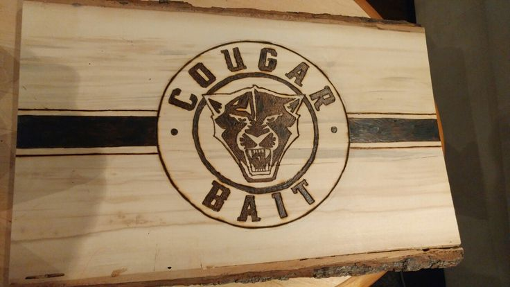 #cougarbait #woodburning #hockey #wood
