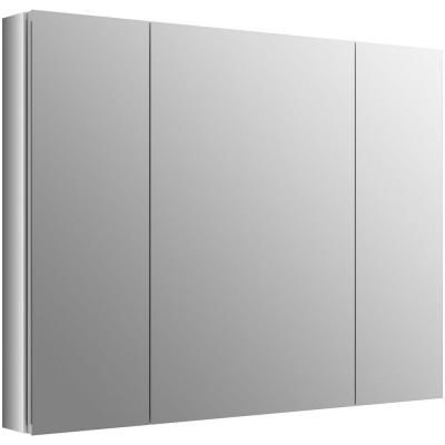 h recessed medicine cabinet in anodized aluminum