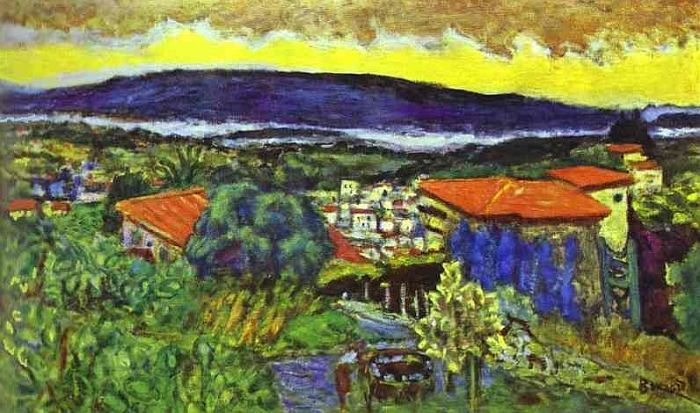 Toits rouges au Cannet, Pierre Bonnard
