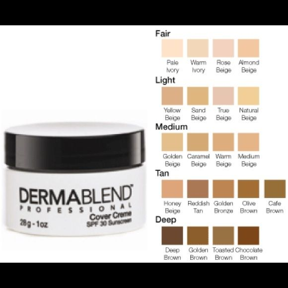 DERMABLEND PROFESSIONAL COVER CREME- FAIR COLOR: ALMOND ...