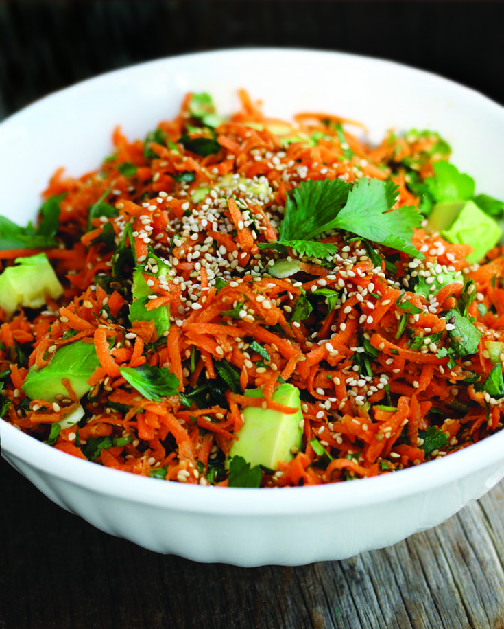 Asian Carrot Avocado Salad | Recipe