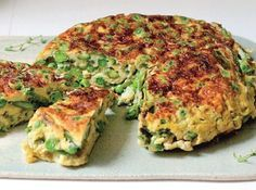 Tortilla Light de arvejas