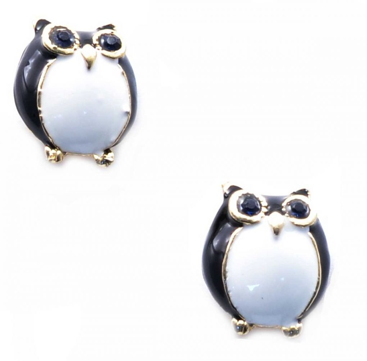 "Cercei ""Black owls"" - Meli Melo - Paris- owls earrings"