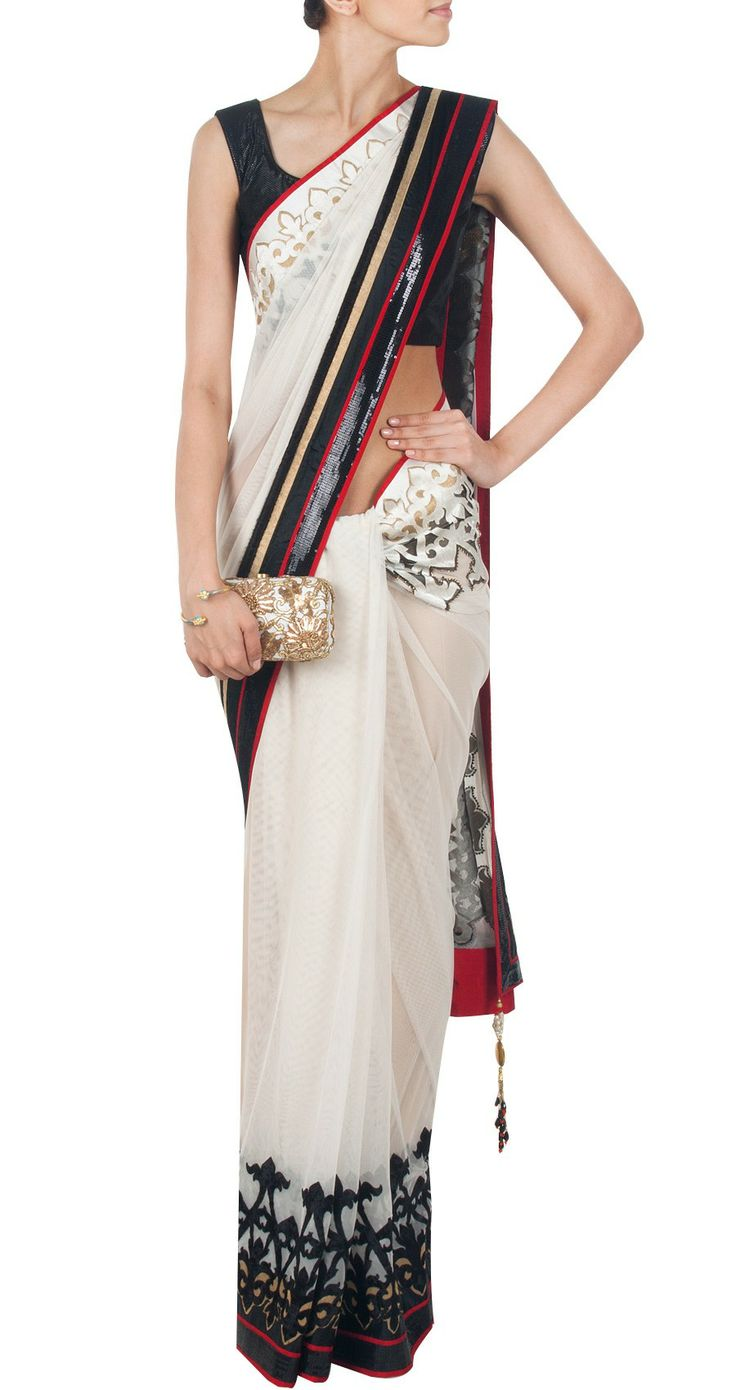 Red, black, white, gold and Satya Paul.