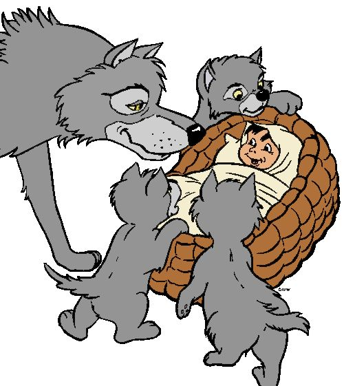 Following clipart of Jungle Book