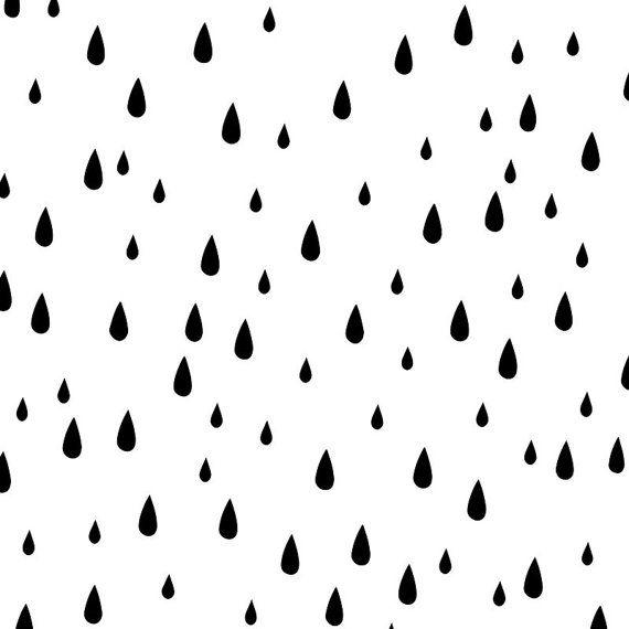 Fitted crib sheet, Rain Drops, Modern Nursery