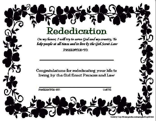 girl scout certificate templates | Welcome you our Special ...