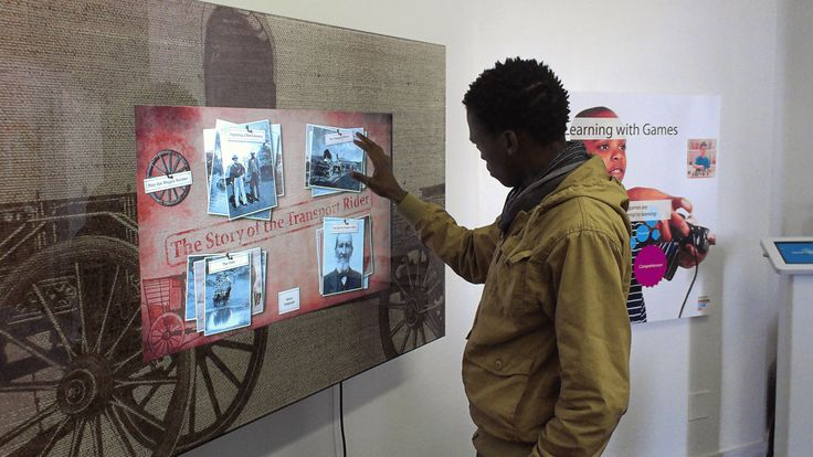 A massive touch screen installed at the Ceres Transport Riders' Museum gives visitors insights into the different aspects of a transport rider's life.