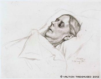 A. Edelfelt - Taiteilijan äiti kuolinvuoteellaan, 1901