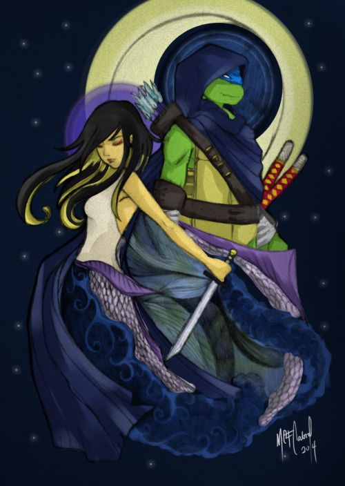 Leo And Karai This Fan Art Is Truly Stunning Tmnt Stuff In General