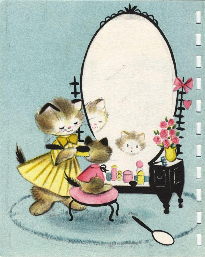 Vintage Hallmark birthday card (1954), illustrated by Vivian Trillow Smith.