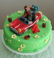 Dětský dort Krteček a autíčko | Dětské dorty fotogalerie | Restaurace Bobová…