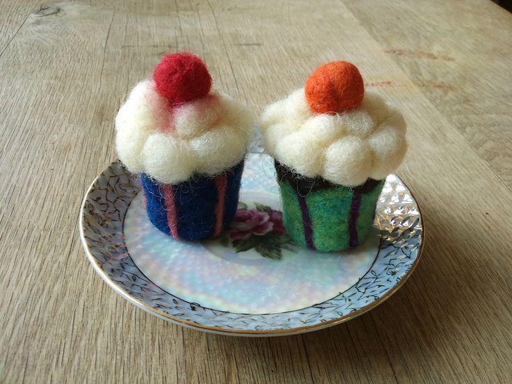 Filt cupcake by Katrine Svinth