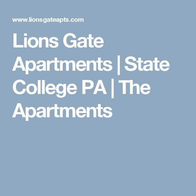 Lions Gate Apartments | State College PA | The Apartments