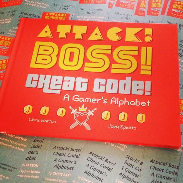 Chris Barton will be signing copies of Attack! Boss! Cheat Code! and giving away bundles of bookmarks this Wed. at 2 pm at #txla15.
