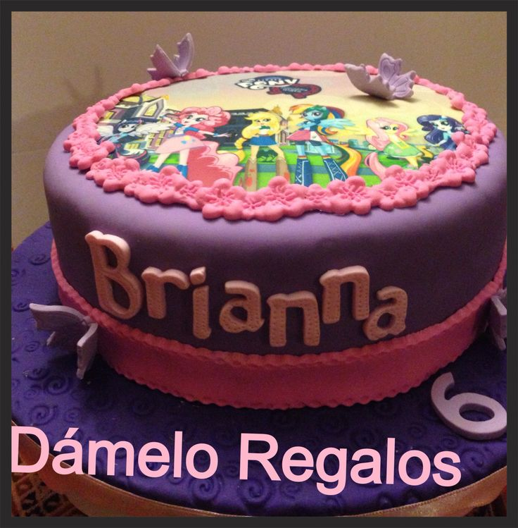 Torta de My Little Pony Equestria Girls: Birthday Parties, Cakes Mlpeg, Birthday Theme, Ponies Of Equestria, 6Th Birthday, Equestria Girls Cakes, Cakes Children, Girls Parties, Birthday Ideas