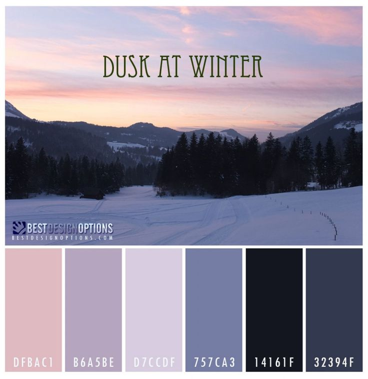 Winter Color Palettes For Design Inspiration Colour